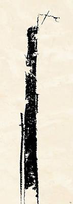 Poster featuring the digital art Totem by Ken Walker