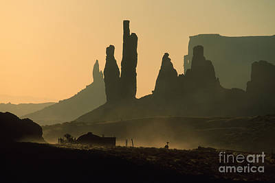 Totems At Sunrise Poster by Stan and Anne Foster