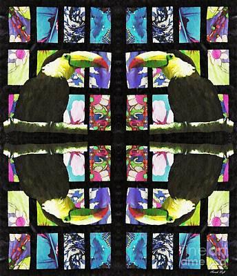 Toucan Circle Poster by Sarah Loft