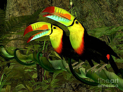Toucan Jungle Poster by Corey Ford