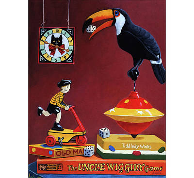 Poster featuring the painting Toucan Play At This Game by Linda Apple