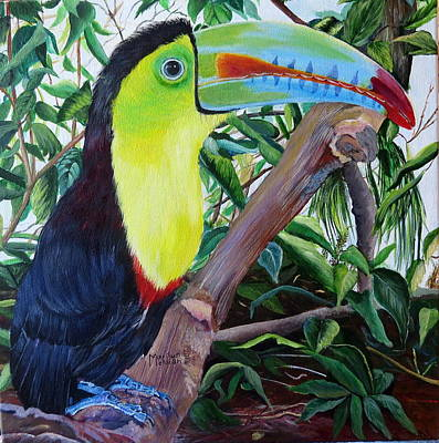 Toucan Portrait Poster by Marilyn McNish