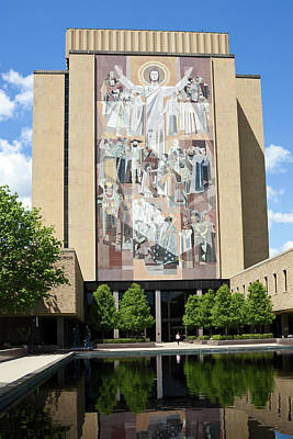 Touchdown Jesus Mural Poster by Sally Weigand