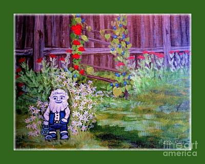 Touched By A Gnome In Grandma's Secret Garden Poster by Kimberlee Baxter