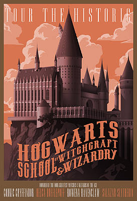 Tour Hogwarts Castle Poster by Christopher Ables