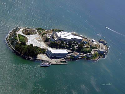 Tour Of Alcatraz Poster by Donna Blackhall