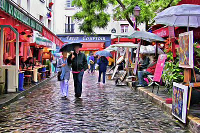Tourists - Paris - Place Du Tertre Poster