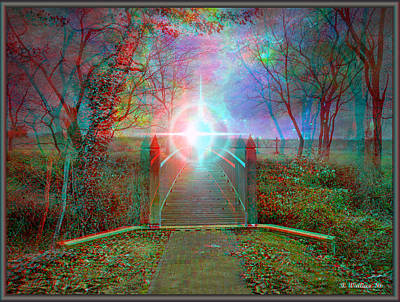 Towards The Light - Use Red-cyan 3d Glasses Poster