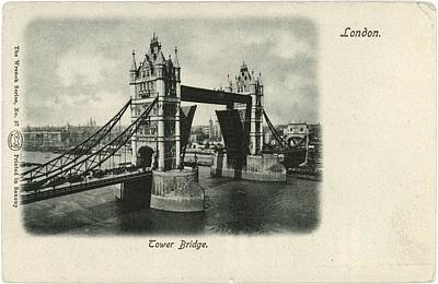 Tower Bridge Across The Thames In London Poster by Gillham Studios