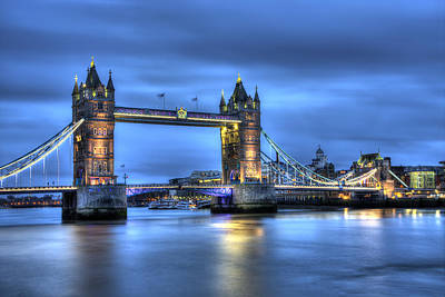 Tower Bridge London Blue Hour Poster by Shawn Everhart