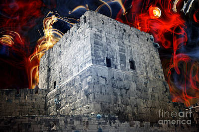 Tower Of David Design Poster by John Rizzuto