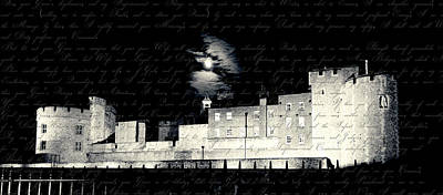 Tower Of London With Letter From Anne Boleyn Poster by Heidi Hermes
