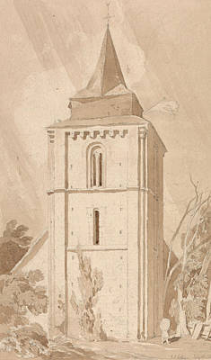 Tower Of The Village Church Of Saint Maclou, Normandy Poster by John Sell Cotman