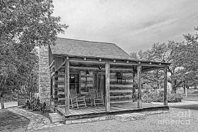 Town Creek Log Cabin Poster