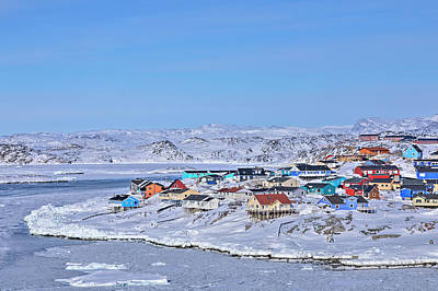 town of Ilulissat - Greenland Poster