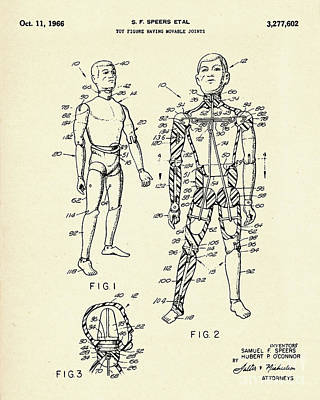 Toy Figure Having Movable Joints-1966 Poster by Pablo Romero