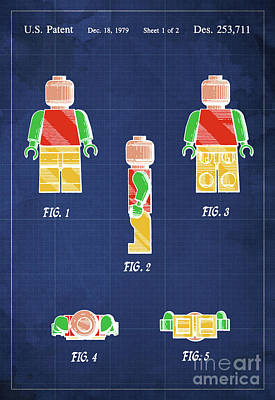 Toy Figure Patent Year 1979 Poster by Pablo Franchi