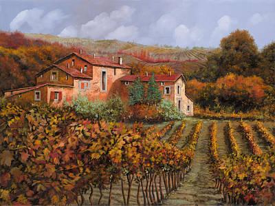 tra le vigne a Montalcino Poster by Guido Borelli
