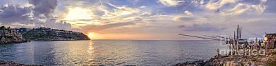 trabucco Peschici Gargano sunset - Puglia - Italy - panoramic  Poster by Luca Lorenzelli