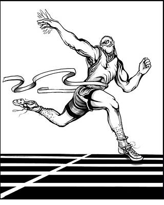 Track Sprinter Poster by Keith Naquin