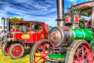 Traction Engine And Steam Lorry Poster