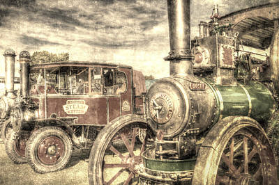 Traction Engine And Steam Lorry Vintage Poster