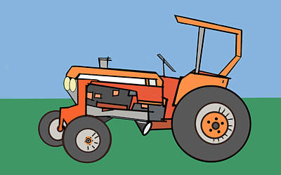 Tractor 2 Poster by Denny Casto