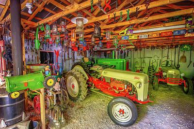 Tractor Garage Poster
