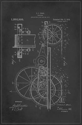 Tractor Patent Drawing 1a Poster