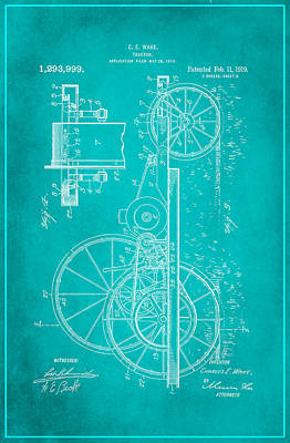 Tractor Patent Drawing 1c Poster