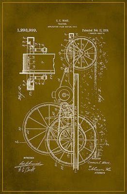 Tractor Patent Drawing 1e Poster