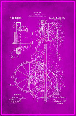 Tractor Patent Drawing 1f Poster