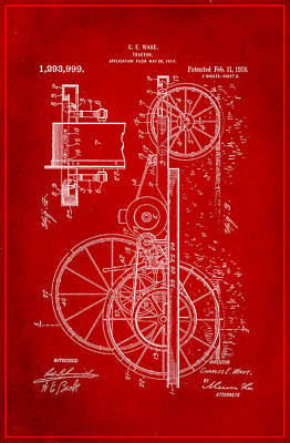 Tractor Patent Drawing 1g Poster