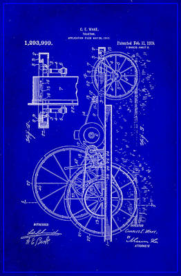 Tractor Patent Drawing 1h Poster