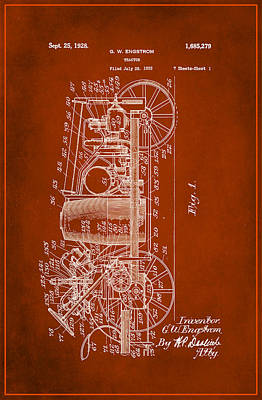 Tractor Patent Drawing 2b Poster