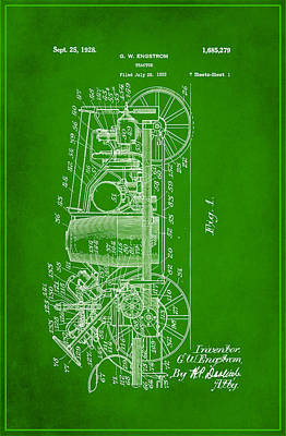 Tractor Patent Drawing 2f Poster