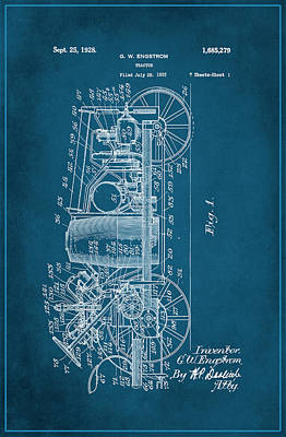 Tractor Patent Drawing 2g Poster