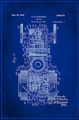 Tractor Patent Drawing 3a Poster