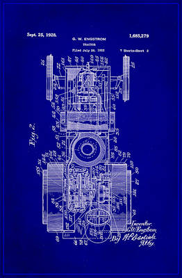 Tractor Patent Drawing 3b Poster