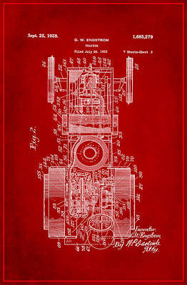 Tractor Patent Drawing 3j Poster