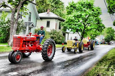 Tractors On Parade Poster by Rena Trepanier