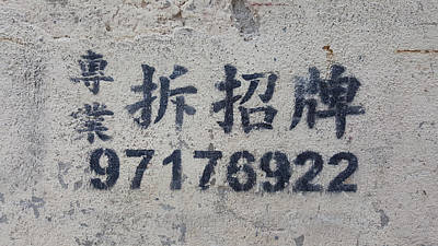 Traditional Characters Professional Signage Removal Poster