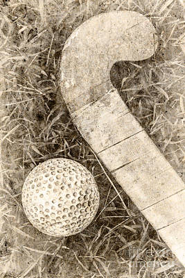 Traditional Grass Hockey Poster
