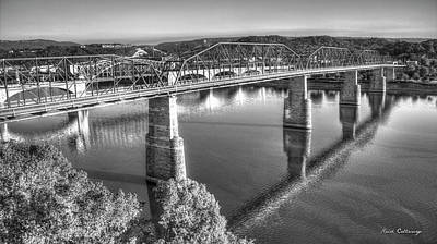 Traffic Reflections The Bridges Of Chattanooga Tennessee Art Poster by Reid Callaway
