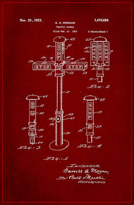 Traffic Signal Patent Drawing 1g Poster by Brian Reaves