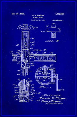 Traffic Signal Patent Drawing 2c Poster by Brian Reaves