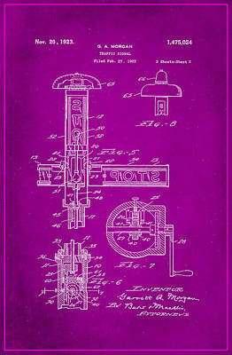 Traffic Signal Patent Drawing 2g Poster by Brian Reaves