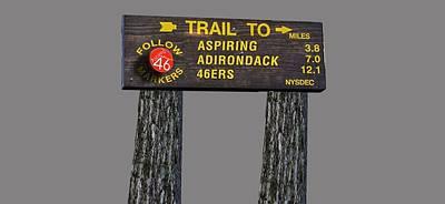Trail To Aspiring Adirondack 46ers Poster