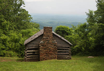 Trails Cabin At Smart View Loop On The Blue Ridge Parlway Poster by Suzanne Gaff