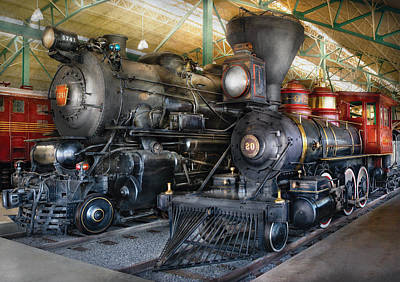 Train - Engine - Steam Locomotives Poster by Mike Savad